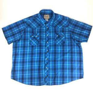 Wrangler Pearl Snap Western Shirt Men's 3XL